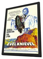 Evel Knievel - 11 x 17 Movie Poster - Style A - in Deluxe Wood Frame