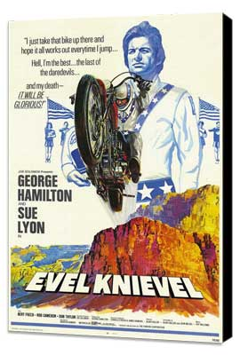 Evel Knievel - 27 x 40 Movie Poster - Style A - Museum Wrapped Canvas