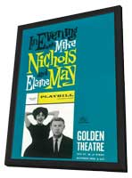 Evening with Mike Nichols and Elaine May (Broadway) - 11 x 17 Poster - Style A - in Deluxe Wood Frame