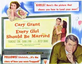 Every Girl Should Be Married - 11 x 14 Movie Poster - Style A