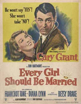 Every Girl Should Be Married - 27 x 40 Movie Poster - Style A