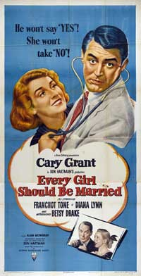 Every Girl Should Be Married - 14 x 36 Movie Poster - Insert Style A