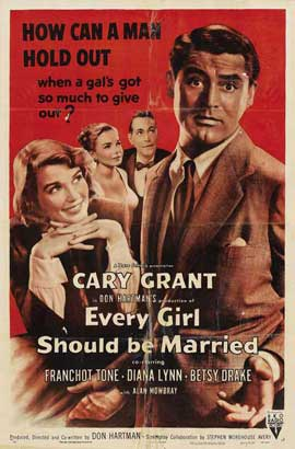 Every Girl Should Be Married - 27 x 40 Movie Poster - Style D