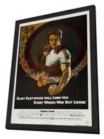 Every Which Way But Loose - 27 x 40 Movie Poster - Style B - in Deluxe Wood Frame