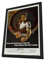 Every Which Way But Loose - 11 x 17 Movie Poster - Style B - in Deluxe Wood Frame