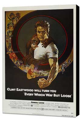 Every Which Way But Loose - 27 x 40 Movie Poster - Style B - Museum Wrapped Canvas