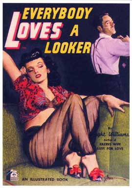 Everybody Loves a Looker - 11 x 17 Retro Book Cover Poster