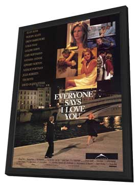 Everyone Says I Love You - 11 x 17 Movie Poster - Style A - in Deluxe Wood Frame