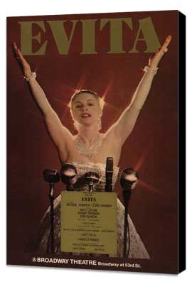 Evita (Broadway) - 11 x 17 Poster - Style A - Museum Wrapped Canvas
