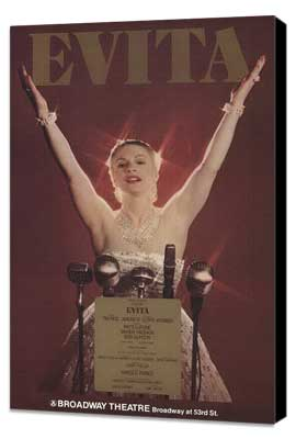Evita (Broadway) - 27 x 40 Poster - Style A - Museum Wrapped Canvas