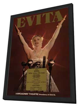 Evita (Broadway) - 11 x 17 Poster - Style A - in Deluxe Wood Frame