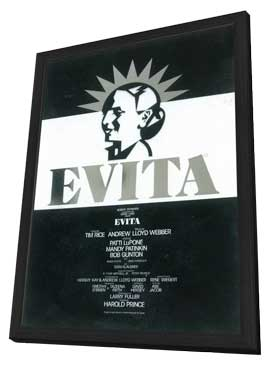 Evita (Broadway) - 11 x 17 Poster - Style B - in Deluxe Wood Frame