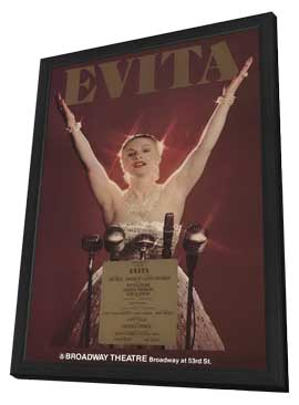 Evita (Broadway) - 27 x 40 Poster - Style A - in Deluxe Wood Frame