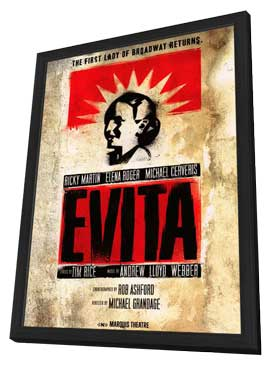 Evita (Broadway) - 14 x 22 Poster - Style A - in Deluxe Wood Frame