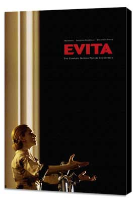 Evita - 11 x 17 Movie Poster - Style B - Museum Wrapped Canvas