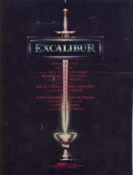 Excalibur - 27 x 40 Movie Poster - Style C