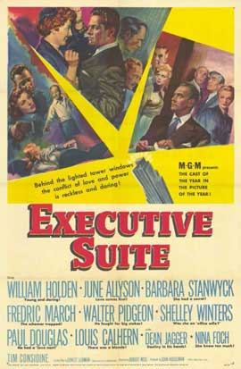 Executive Suite - 11 x 17 Movie Poster - Style A