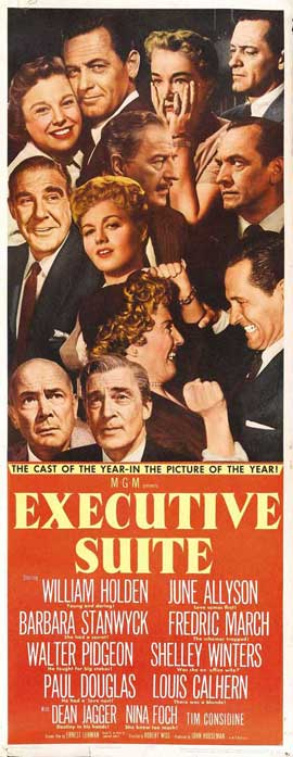 Executive Suite - 14 x 36 Movie Poster - Insert Style A