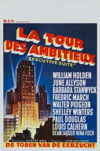 Executive Suite - 11 x 17 Movie Poster - Belgian Style A