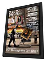 Exit Through the Gift Shop - 11 x 17 Movie Poster - Style A - in Deluxe Wood Frame