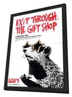 Exit Through the Gift Shop - 11 x 17 Movie Poster - Canadian Style A - in Deluxe Wood Frame