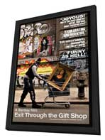 Exit Through the Gift Shop - 27 x 40 Movie Poster - Style A - in Deluxe Wood Frame