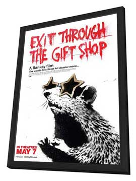 Exit Through the Gift Shop - 27 x 40 Movie Poster - Canadian Style A - in Deluxe Wood Frame