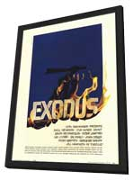 Exodus - 27 x 40 Movie Poster - Style A - in Deluxe Wood Frame