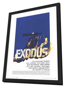 Exodus - 11 x 17 Movie Poster - Style C - in Deluxe Wood Frame