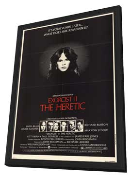Exorcist 2: The Heretic - 11 x 17 Movie Poster - Style A - in Deluxe Wood Frame