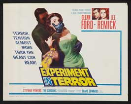 Experiment in Terror - 22 x 28 Movie Poster - Half Sheet Style B