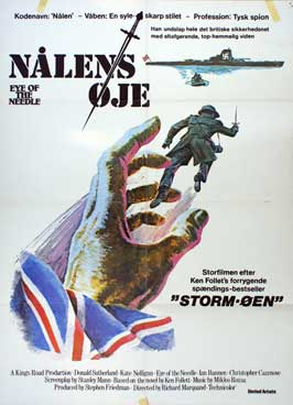 Eye of the Needle - 11 x 17 Movie Poster - Danish Style A