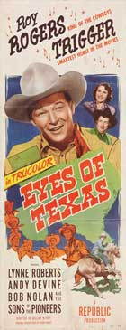 Eyes of Texas - 14 x 36 Movie Poster - Insert Style A