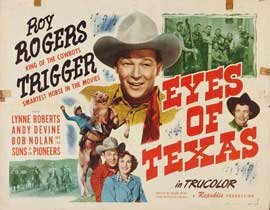 Eyes of Texas - 22 x 28 Movie Poster - Half Sheet Style A