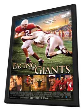 Facing the Giants - 11 x 17 Movie Poster - Style A - in Deluxe Wood Frame