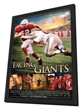 Facing the Giants - 27 x 40 Movie Poster - Style B - in Deluxe Wood Frame
