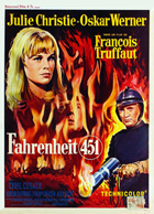 Fahrenheit 451 - 27 x 40 Movie Poster - Belgian Style A