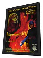 Fahrenheit 451 - 11 x 17 Poster - Foreign - Style A - in Deluxe Wood Frame