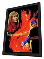 Fahrenheit 451 - 27 x 40 Movie Poster - Style E - in Deluxe Wood Frame