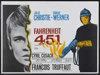 Fahrenheit 451 - 30 x 40 Movie Poster UK - Style B