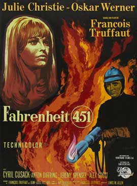 Fahrenheit 451 - 27 x 40 Movie Poster - French Style A