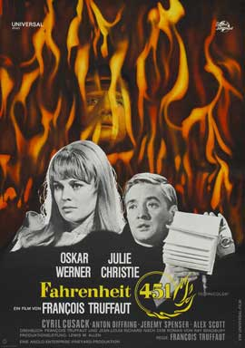 Fahrenheit 451 - 27 x 40 Movie Poster - German Style A