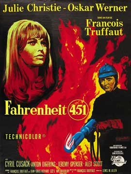 Fahrenheit 451 - 27 x 40 Movie Poster - French Style B
