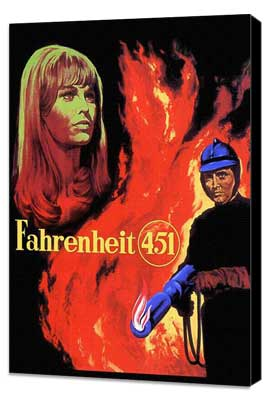 Fahrenheit 451 - 27 x 40 Movie Poster - Style E - Museum Wrapped Canvas