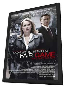 Fair Game - 11 x 17 Movie Poster - Style B - in Deluxe Wood Frame