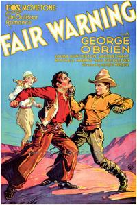 Fair Warning - 43 x 62 Movie Poster - Bus Shelter Style A