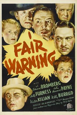 Fair Warning - 11 x 17 Movie Poster - Style B