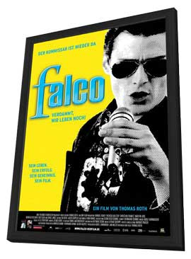 Falco: Damn It, We're Still Alive! - 27 x 40 Movie Poster - German Style A - in Deluxe Wood Frame