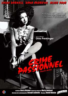 Fallen Angel - 11 x 17 Movie Poster - French Style A