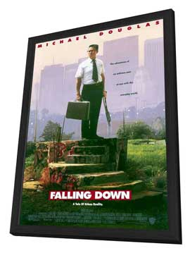 Falling Down - 11 x 17 Movie Poster - Style A - in Deluxe Wood Frame